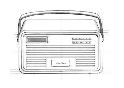 radio-drawn